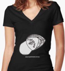 Thinking Cap on TShirt by Alex - dark shirt  Women's Fitted V-Neck T-Shirt