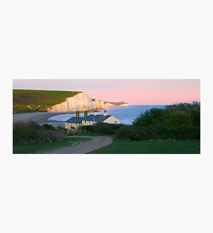 Sunset Glow on the Sisters Photographic Print
