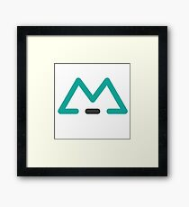 M in BLUE Framed Print