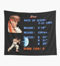 Ryu Stats Wall Tapestry