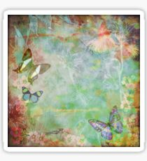 Vintage Australian floral butterfly design Sticker