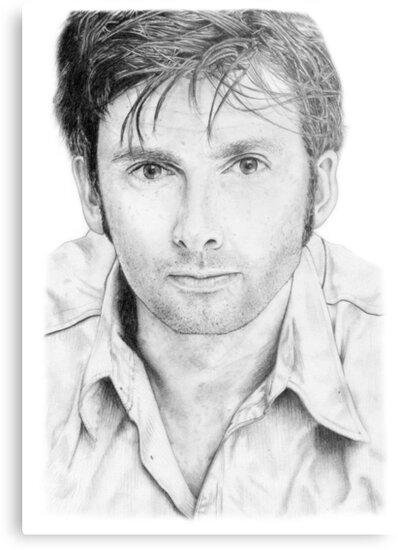 David Tennant sketch by DanceKaitoDance