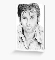 David Tennant sketch Greeting Card