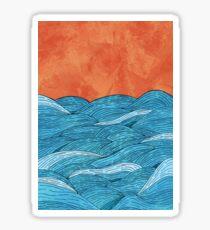 The blue sea Sticker