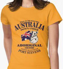 Australia - Koala & Flag Map  Womens Fitted T-Shirt
