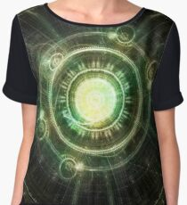 Chaos Clock - The Steampunk Spell-Shaper Chiffon Top