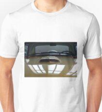 Detail of green shining car hood and windscreen T-Shirt