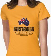 Australia - Flag Map  Womens Fitted T-Shirt