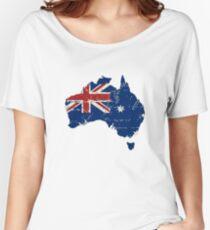 Australia - Flag Map  Women's Relaxed Fit T-Shirt