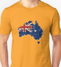 Australia - Flag Map  Unisex T-Shirt