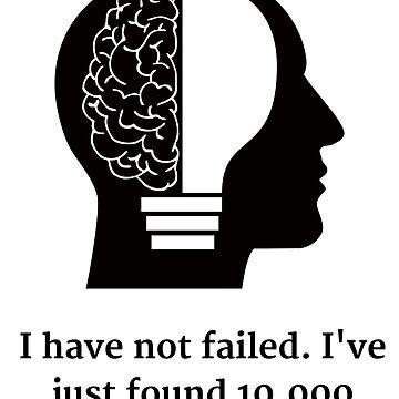 Thomas Edison Motivational by Momente