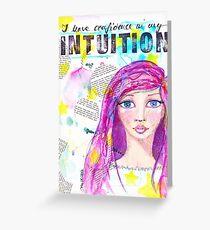 Intuition Grußkarte
