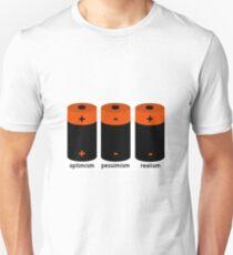 battery optimism pessimism T-Shirt