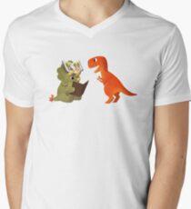 BOOK DINOSAURS 04 Men's V-Neck T-Shirt