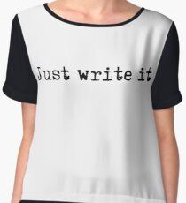 Cool Inspirational Epic Motivational Write Writer T-Shirts Women's Chiffon Top