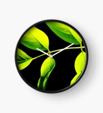 Lime Green on Black Clock
