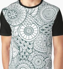 Abstract Floral Graphic T-Shirt