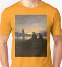 Caspar David Friedrich - Moonrise Over The Sea Unisex T-Shirt