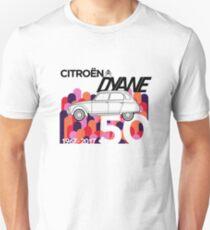 Citroen Dyane 50th Anniversary Graphic Artwork Unisex T-Shirt