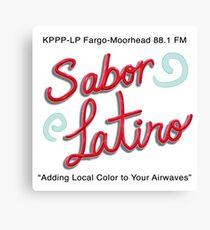 Sabor Latino Logo Canvas Print