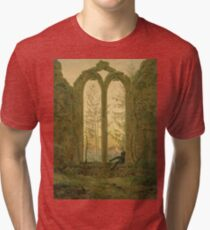 Caspar David Friedrich - Ruins Of The Oybin Monastery (The Dreamer) Tri-blend T-Shirt