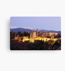 Alhambra After Dusk Canvas Print