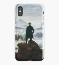 Caspar David Friedrich - The Wanderer Above The Sea Of Fog iPhone Case/Skin