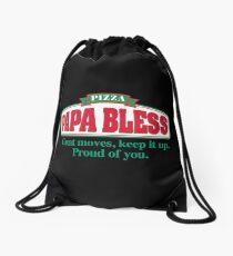 PAPA BLESS PIZZA (Parodie T-Shirt) Turnbeutel