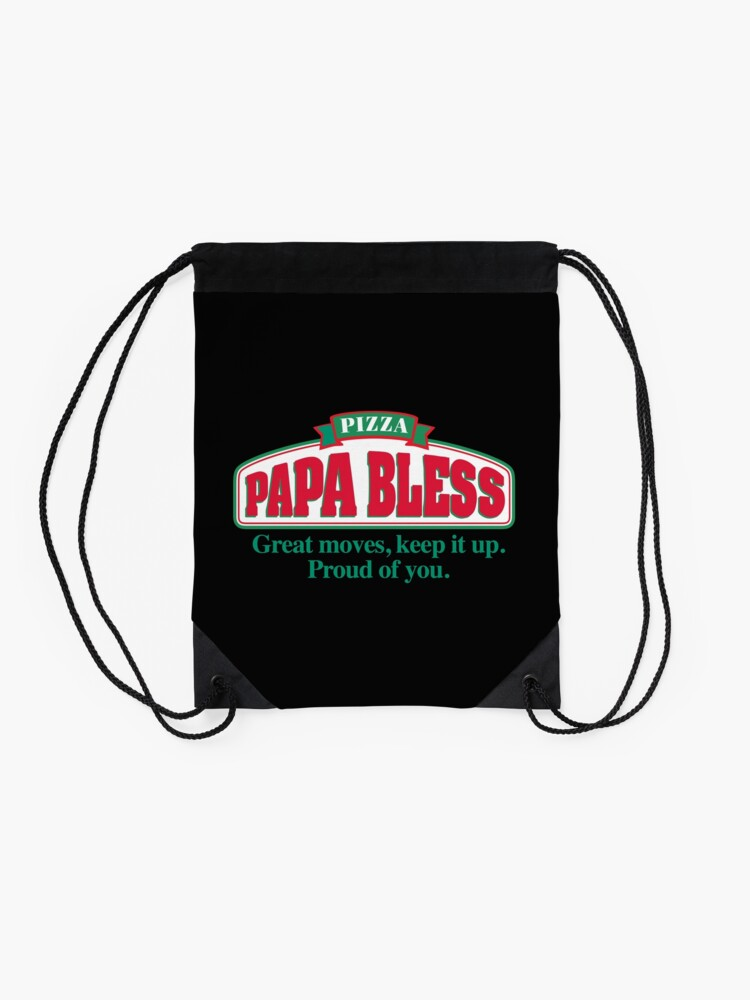 Alternative Ansicht von PAPA BLESS PIZZA (Parodie T-Shirt) Turnbeutel