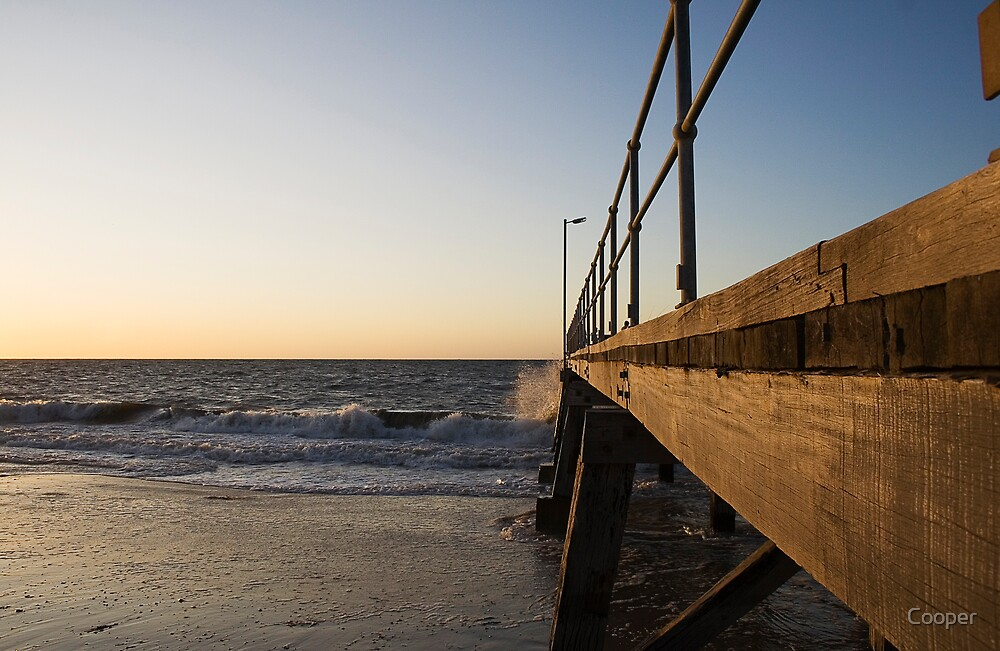 Jetty at sunset by Cooper