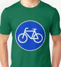 Sonderweg für Radfahrer. Slim Fit T-Shirt