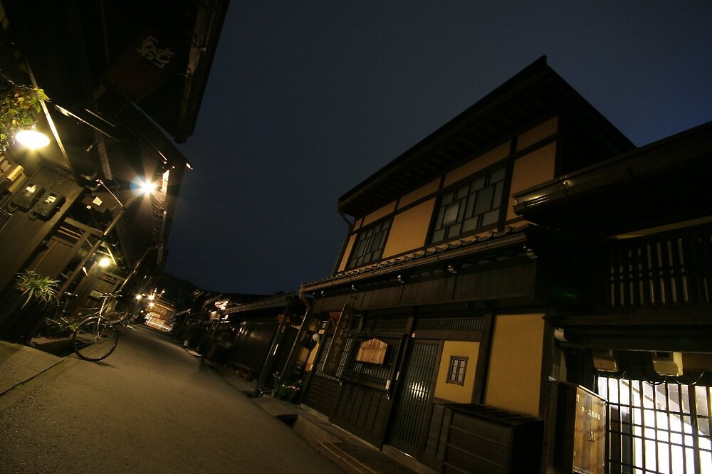 Takayama evening streetscape by Trishy