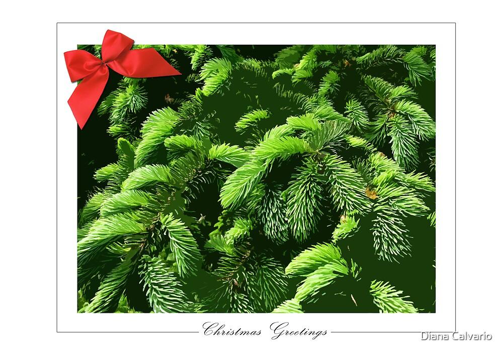 Christmas Greetings Card by Diana Calvario