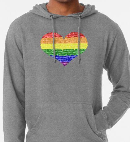 Regenbogen Herz Mosaik Leichter Hoodie