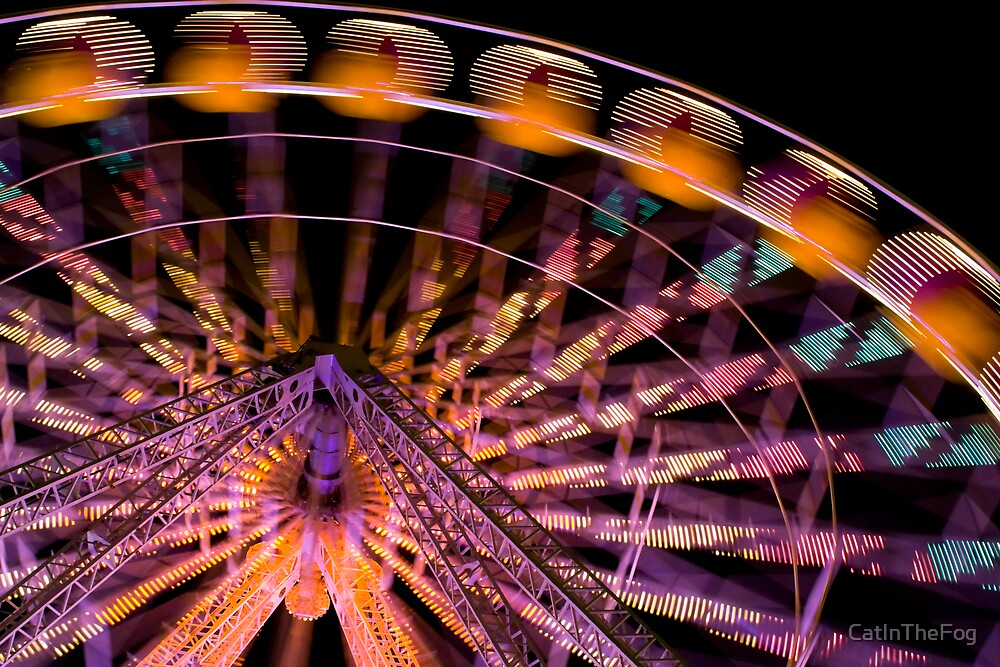 Ferris wheel in motion by CatInTheFog