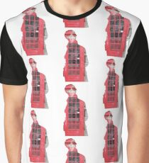 Sherlock- Telephone Box White Graphic T-Shirt