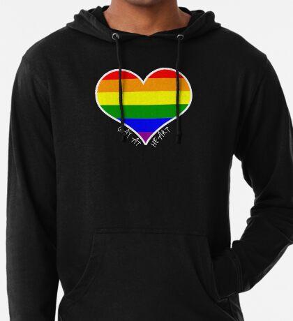 Schwules Herz Regenbogen Leichter Hoodie
