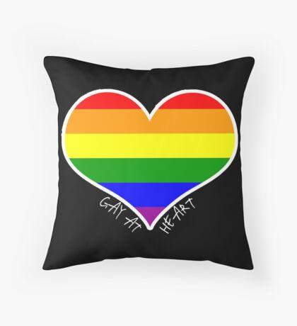 Schwules Herz Regenbogen Dekokissen
