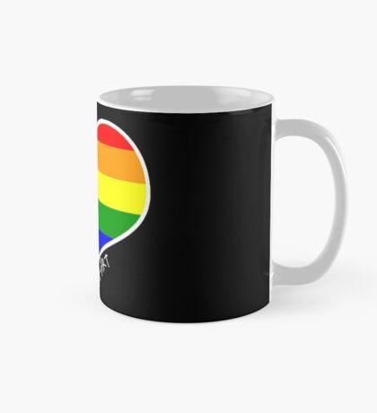 Schwules Herz Regenbogen Tasse