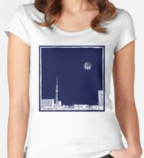 Tokyo Sky Tree by Night Women's Fitted Scoop T-Shirt
