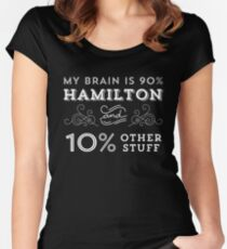 My Brain is 90% Hamilton Vintage T-Shirt from the Hamilton Broadway Musical - Aaron Burr Alexander Hamilton Gift Women's Fitted Scoop T-Shirt