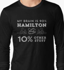 My Brain is 90% Hamilton Vintage T-Shirt from the Hamilton Broadway Musical - Aaron Burr Alexander Hamilton Gift T-Shirt
