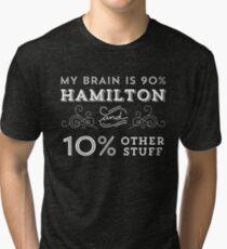 My Brain is 90% Hamilton Vintage T-Shirt from the Hamilton Broadway Musical - Aaron Burr Alexander Hamilton Gift Tri-blend T-Shirt