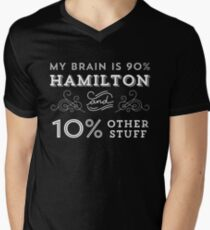 My Brain is 90% Hamilton Vintage T-Shirt from the Hamilton Broadway Musical - Aaron Burr Alexander Hamilton Gift Men's V-Neck T-Shirt