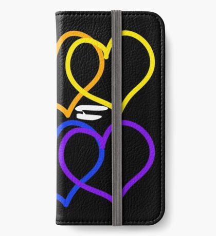 Liebe = Liebe Rainbow Hearts iPhone Flip-Case