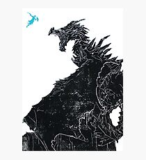 Skyrim Inspired Dragon Print Photographic Print