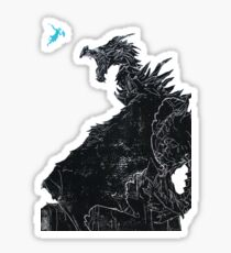 Skyrim Inspired Dragon Print Sticker