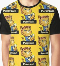 Purrsist! (version 3) Graphic T-Shirt