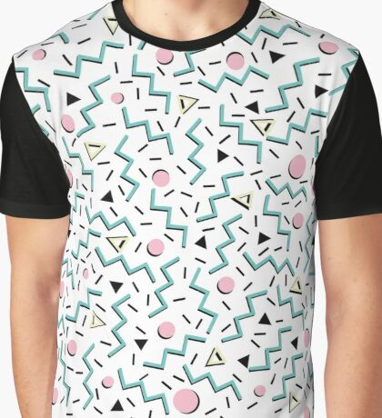 Back to the 80's eighties, funky memphis pattern design Graphic T-Shirt
