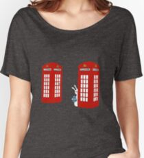 London Telephone Box and A Bunny Women's Relaxed Fit T-Shirt